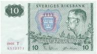 3958. Szwecja 10 kronor 1966 st.3+