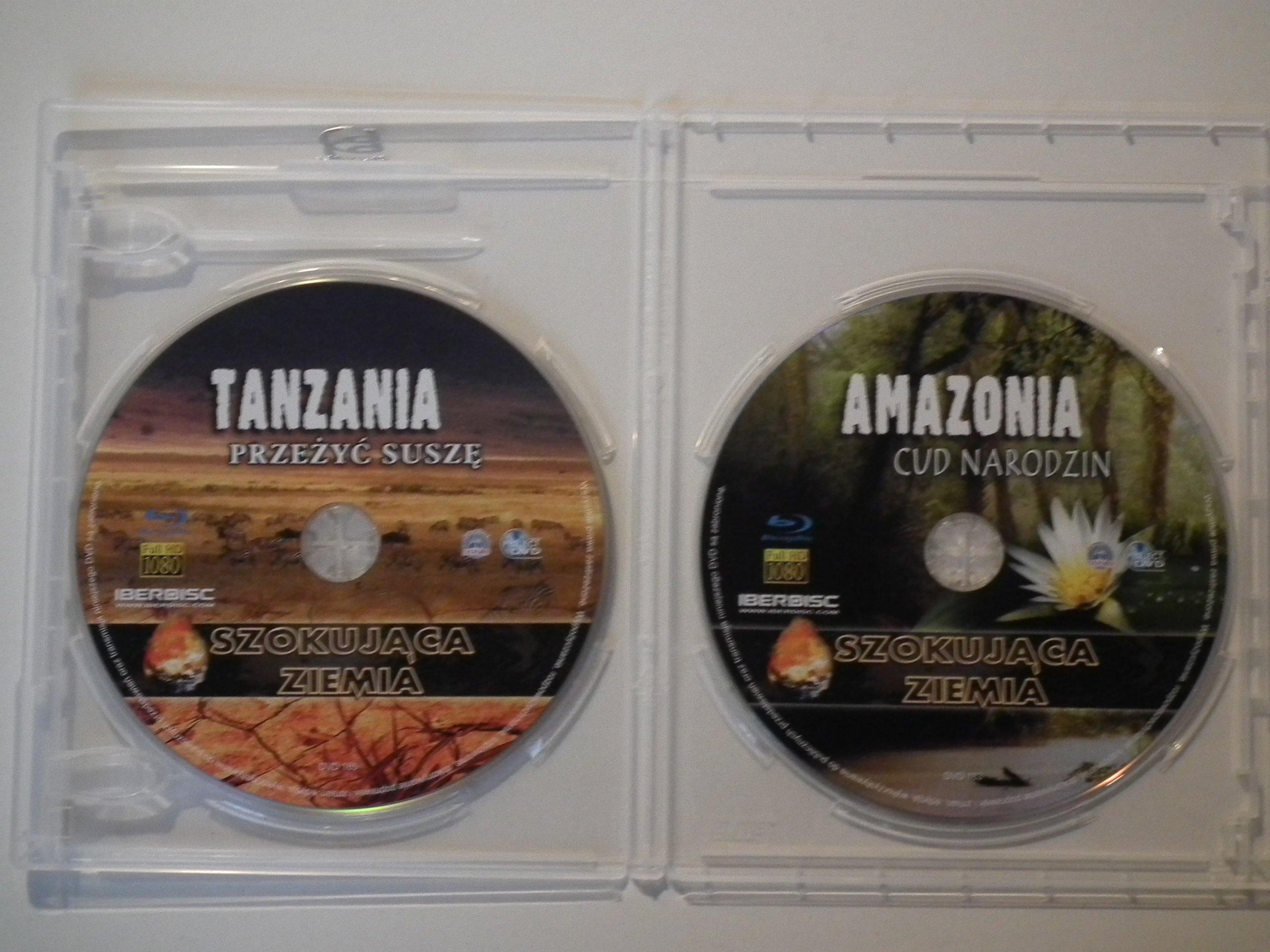2 BLU RAY SZOKUJĄCA ZIEMIA - TANZANIA , AMAZONIA