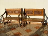 Stare, pałacowe ławki,dąb, neogotyk,ławka