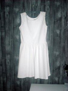ee7fa99035 biała sukienka srebrne napy Cropp wyprzedaż tanio - 6576786159 ...