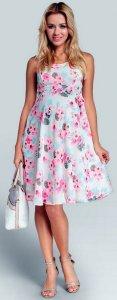 Sukienka ciążowa Happy Mum r.L kwiaty