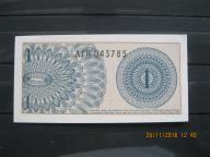143.  Banknot  Indonezja 1 SEN UNC