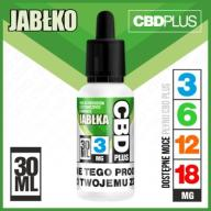 PŁYN LIQUID CBD PLUS 3MG - JABŁKO 30ML