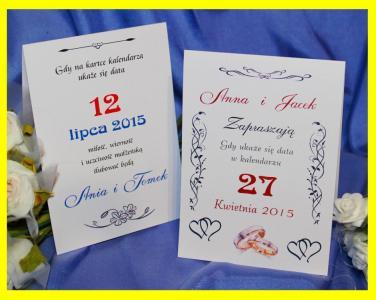 Zaproszenia ślubne Kartka Z Kalendarza Z Humorem 5179693605