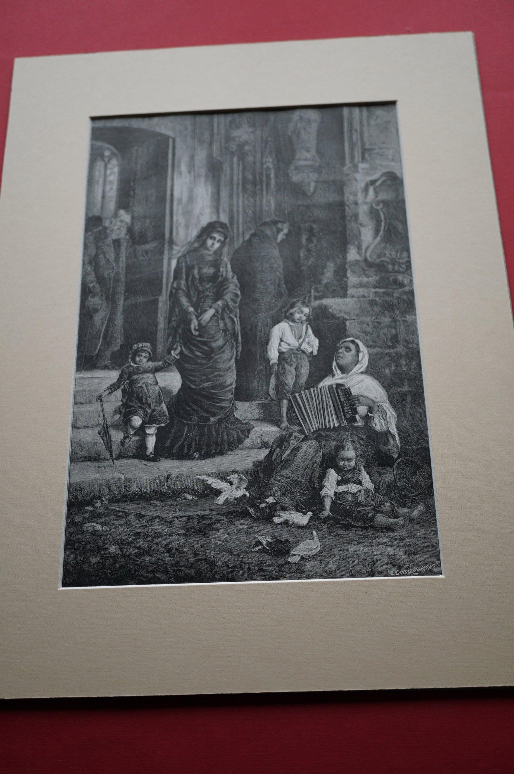 POCHWALSKI K.: Dwie wdowy. Drzeworyt, 1882.