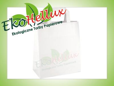 Torby papierowe białe 220x110x245 22x11x24,5 torba