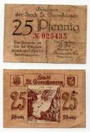 NIEMCY / ST. GOARSHAUSEN ND 25 PFENNIG