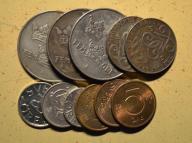 Szwecja - 11 monet mało powtórek - BCM