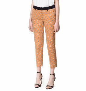 ZARA spodnie w krawatowy wzór S AZTEC NOWE 5374394872