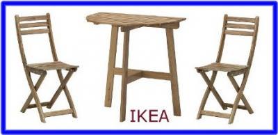 Stół I 2 Krzesła Składane Ikea Askholmen Balkon 4424321885