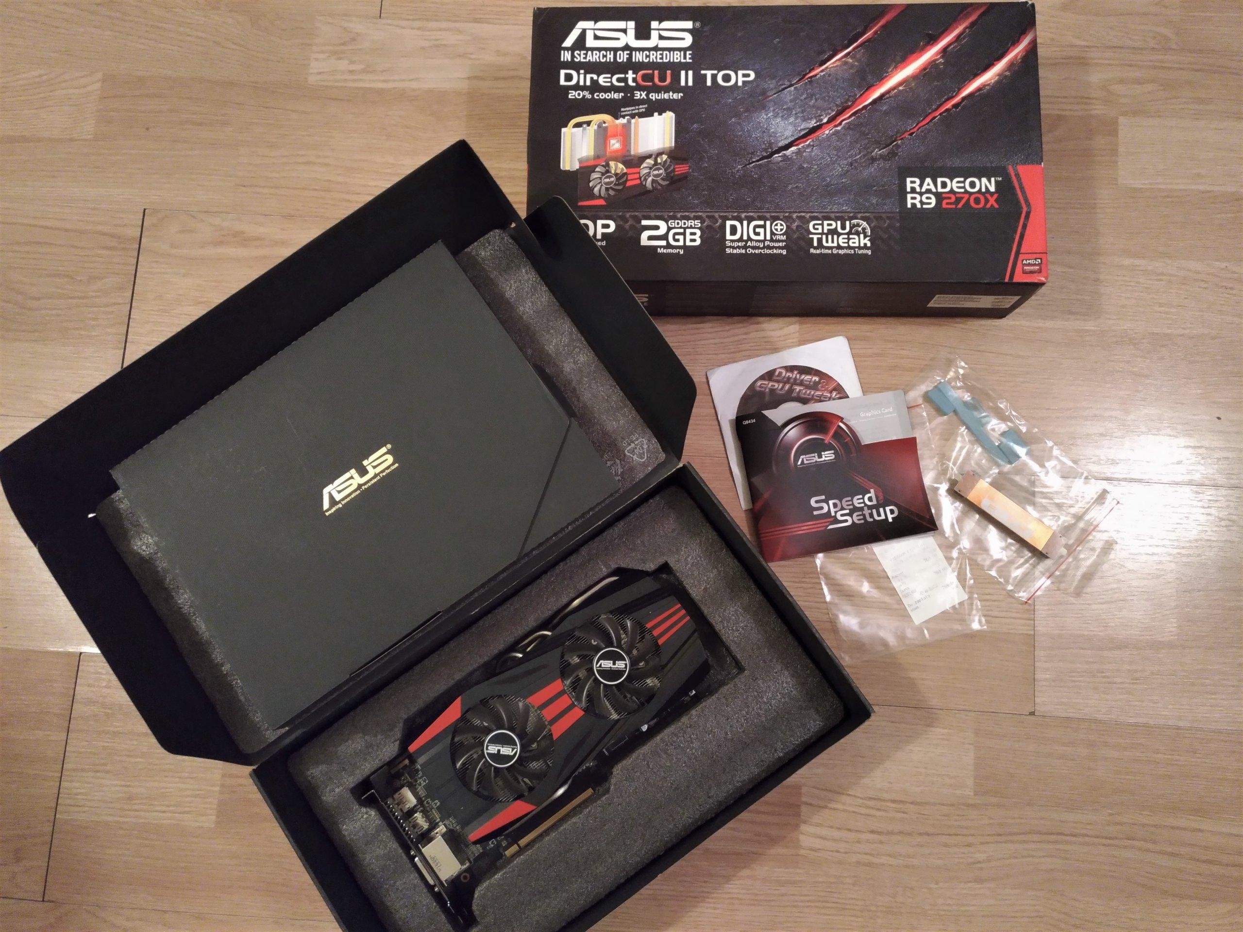 ASUS RADEON R9 270X DirectCU II TOP 2GB - 7020446426