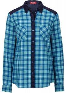 Koszula w kratę z dżinso niebieski 46 3XL 944112  e8MwX