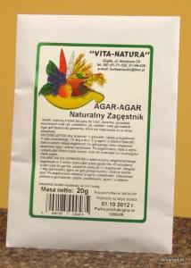 Agar-Agar 20g naturalny zagęstnik