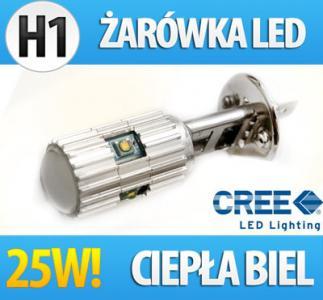 ŻARÓWKA LED CREE 25W H1 H3 HB4 H7 H9/11 P21W PY21W