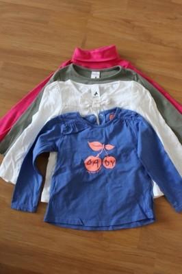 bluzeczki 4 sztuki 98