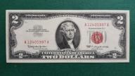 2 dolary USA 1963 Red Seal UNC-/AU+