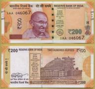 -- INDIE 200 RUPEES 2017 1AA Pnew UNC