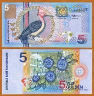 Surinam 5 Guldenów 2000 P-146 UNC