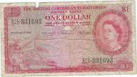 Brytyjskie Karaiby 1 dolar 1958r rzadki