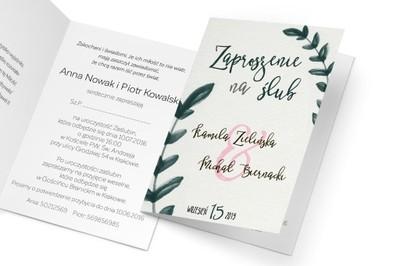 Cudne Zaproszenia Na ślub Spersonalizowanekoperta 6859989616