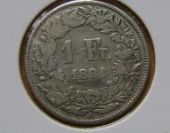frank Szwajcaria 1894 sreberko
