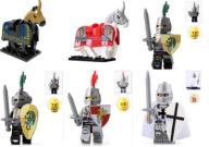 FIGURKI KLOCKI ludziki rycerze koń castle 6 sztuk