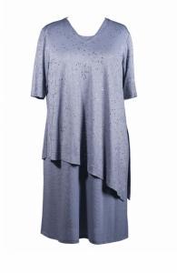 13e17091c Pastelowa niebieska sukienka z narzutką r. 58 - 6025575175 ...