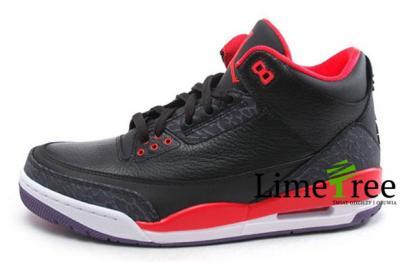 Nike Air Jordan 3 Retro Czarne Bright Crimson