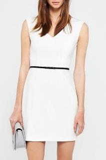 9d4f5c8d03 Sukienka Reserved biała XS S nowa z metką pasek %% - 6644516839 ...