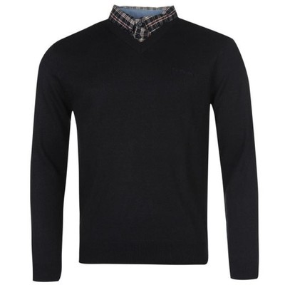 Sweter z kołnierzem Męski Pierre Cardin L