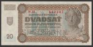 Słowacja - 20 koron - 1942 - stan UNC