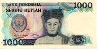 Indonezja 1000 Rupii 1987 P-124a