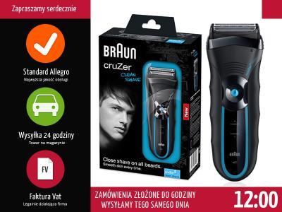 GOLARKA MĘSKA BRAUN CruZer 6 Clean Shave (340) NEW