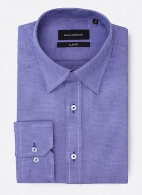 Pako Lorente - koszula PETER4, niebieska kratka, M