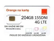 204 GB + 50 GB ORANGE FREE INTERNET NANO SIM 2020