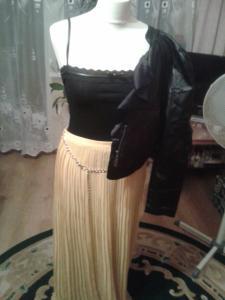 Długa żółta spódnica