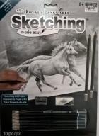 Nauka Szkicowania A4 Konie + Zestaw Ołówków