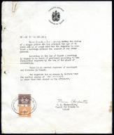 Ambasada Kanady 1960 2 pisma dotyczące małżeństwa