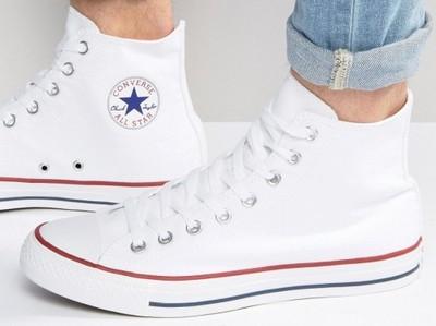 sprzedaż obuwia cała kolekcja gdzie kupić CONVERSE Białe Tenisówki Długie Trampki 46,5