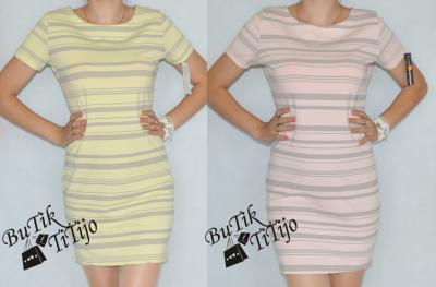 9be8ce5386 Sukienka tuba paski pastelowe kolory hit Sale uni - 5676195212 ...