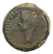 Octavian Augustus Æ Dupondius of Colonia Patricia