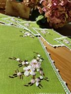 serwetki lniane ręcznie haftowane - komplet