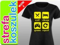 Koszulka dla gracza Śmieszne KOSZULKI Damska L