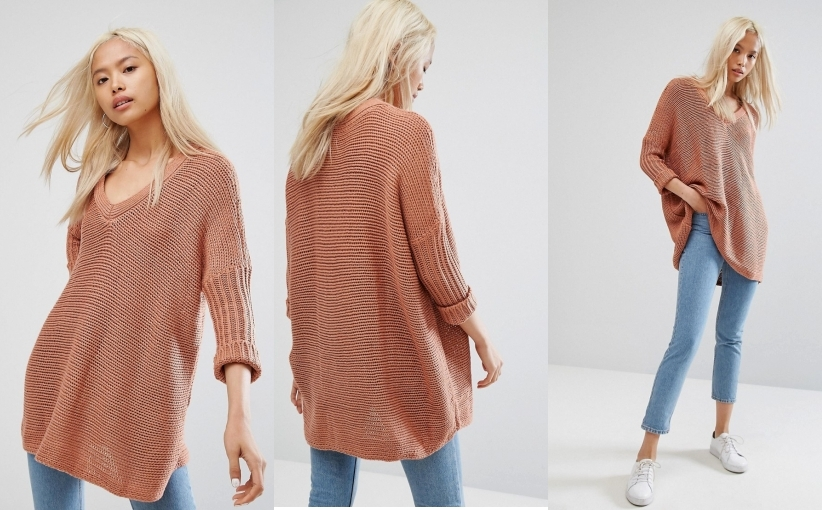 27A020__NOISY MAY__D15 SWETER 3/4 RĘKAW CASUAL__L