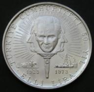 Turcja / 50 lira / 1973 / Ataturk / srebro