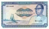 GAMBIA 25 Dalasi 1987-1990 P-11b UNC