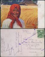 Kaszaliński w słońcu kobieta Feldpost 04614