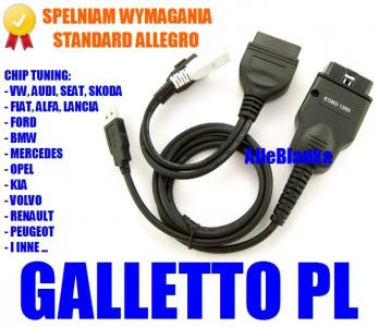 Chip Tuning GALLETTO 1260 PL Flash +Mapy +Diag VAG