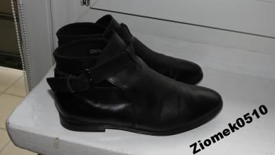 9c1f64b19331a Reserved skórzane czarne botki sztyblety skóra 37 - 4617740463 ...