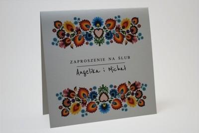 Zaproszenia ślubne Folkowe Ludowe 6692698557 Oficjalne Archiwum